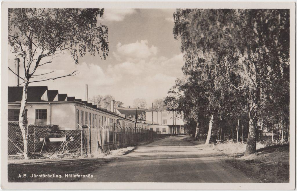 Bruket i Hälleforsnäs 1950.