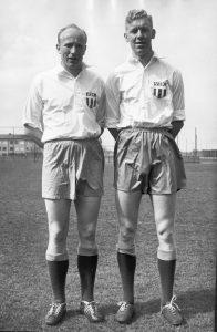 Leppe Ekblom och Frank Söderström 1957. Foto: Bengt Jonsson.