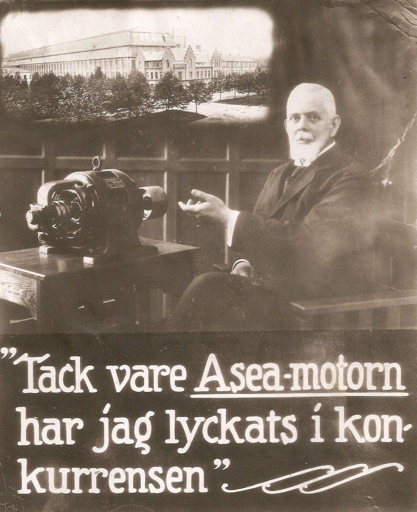 Annons för Aseas berömda motor.